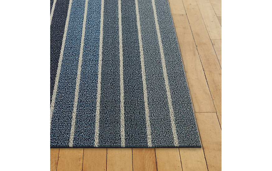 Chilewich Block Stripe Shag Floor Mat