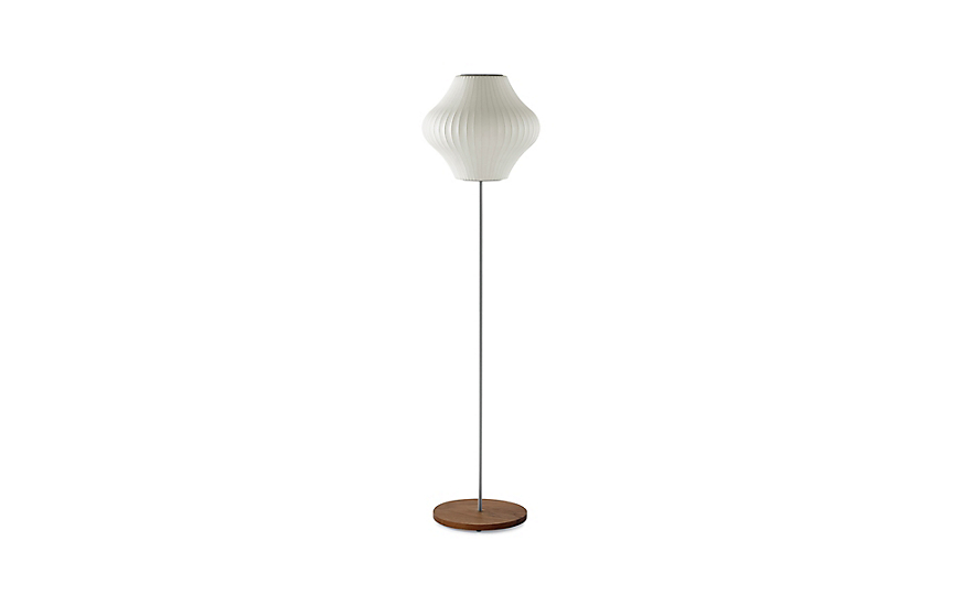 Nelson™ Pear Floor Lamp, Walnut Base