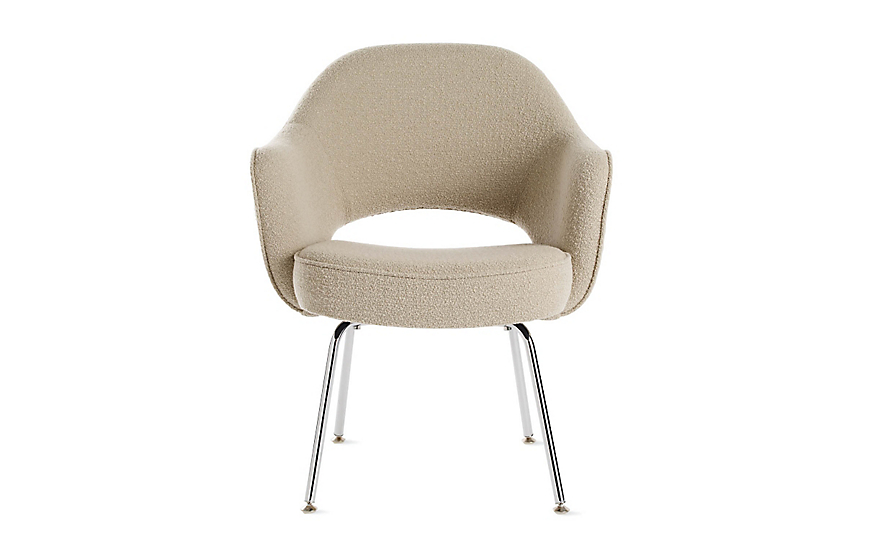 saarinen executive armchair with metal legs - design within reach