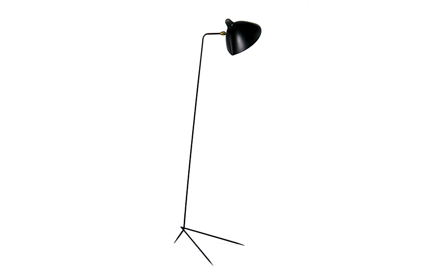 serge mouille one arm floor lamp design within reach. Black Bedroom Furniture Sets. Home Design Ideas