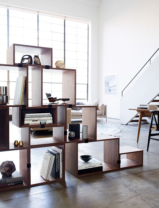 stacked shelving clips set of 5 design within reach. Black Bedroom Furniture Sets. Home Design Ideas