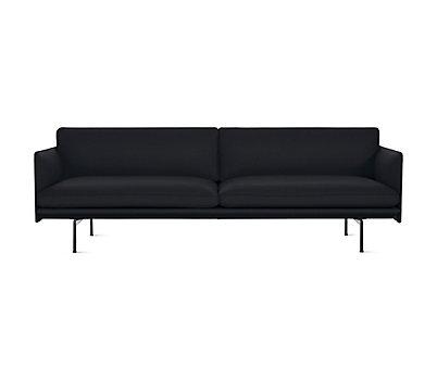 Modern Sleeper Sofa Inside Outline Sofa Modern Sofas And Sleeper Design Within Reach