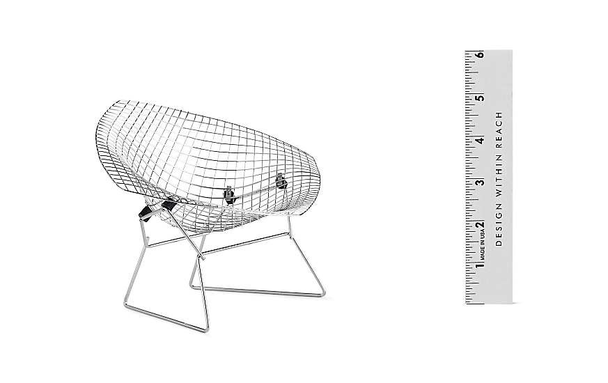 Vitra Miniatures Collection: Bertoia Diamond Chair