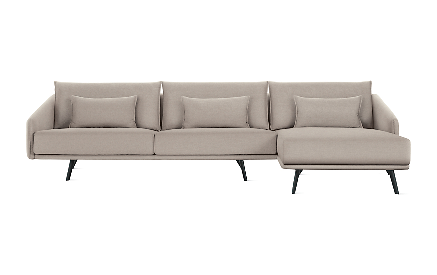 Costura Sectional With Chaise Design Within Reach