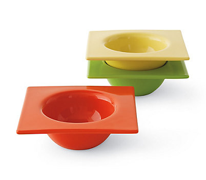 Squared Circle Bowls (Set of 3) De Gustibus Collection