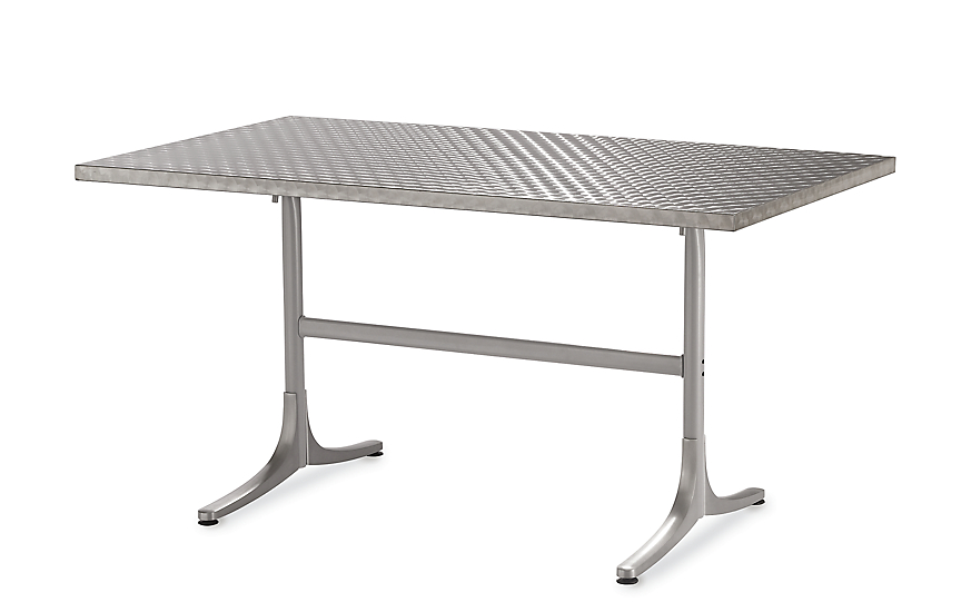 Inox Table, Rectangular