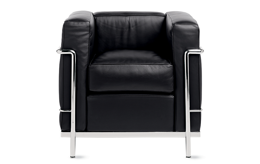 Lc2 petit modele armchair design within reach for Le corbusier lc2