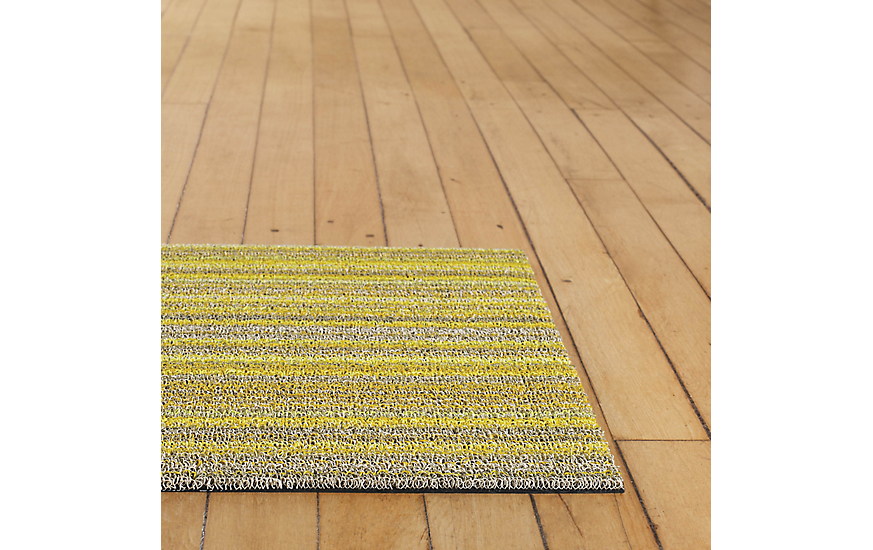 Superbe Chilewich Skinny Stripe Shag Floor Mat