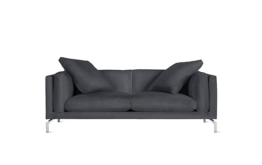 80 Sofa Durham Navy Blue Couch With Nailheads Crate And