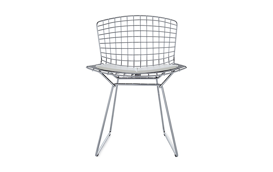 Incroyable Bertoia Side Chair With Vinyl Seat Pad