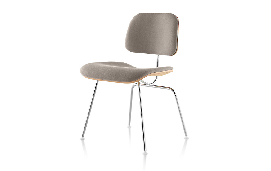 Eames® Upholstered Molded Plywood Dining Chair (DCM)