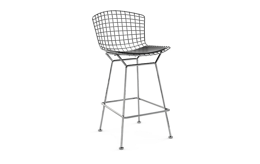 Bertoia Counter Stool With Seat Pad Design Within Reach