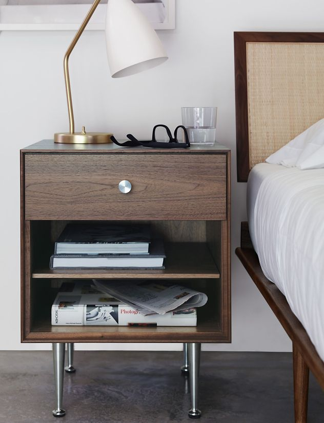 Nelson Thin Edge Bedside Table ...