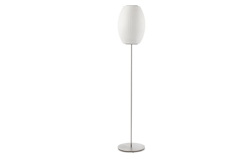 Nelson cigar lotus floor lamp herman miller nelson cigar floor lamp brushed base aloadofball Image collections