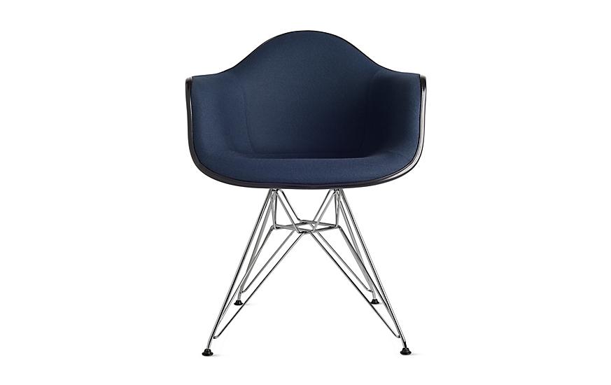 Eames® Upholstered Molded Fiberglass Wire-Base Armchair (DFAR)