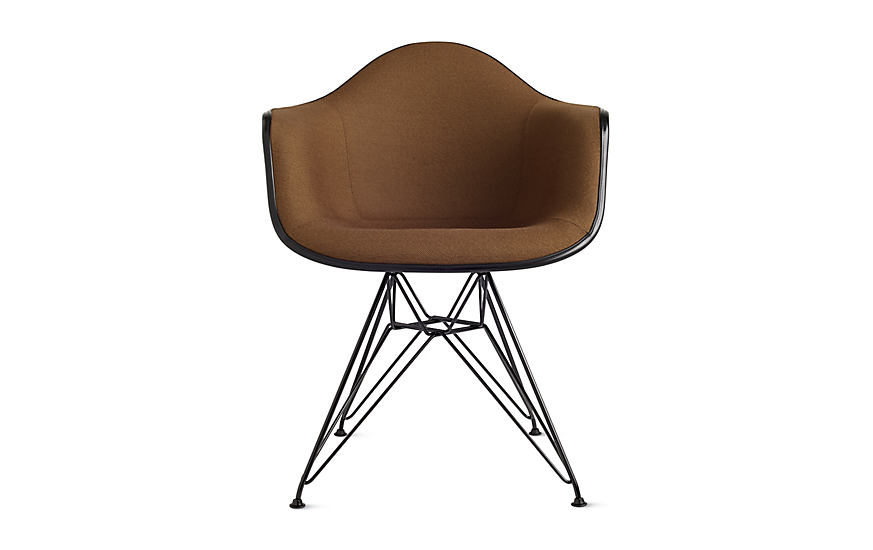 Eames® Upholstered Molded Fiberglass Wire-Base Armchair (DFAR)