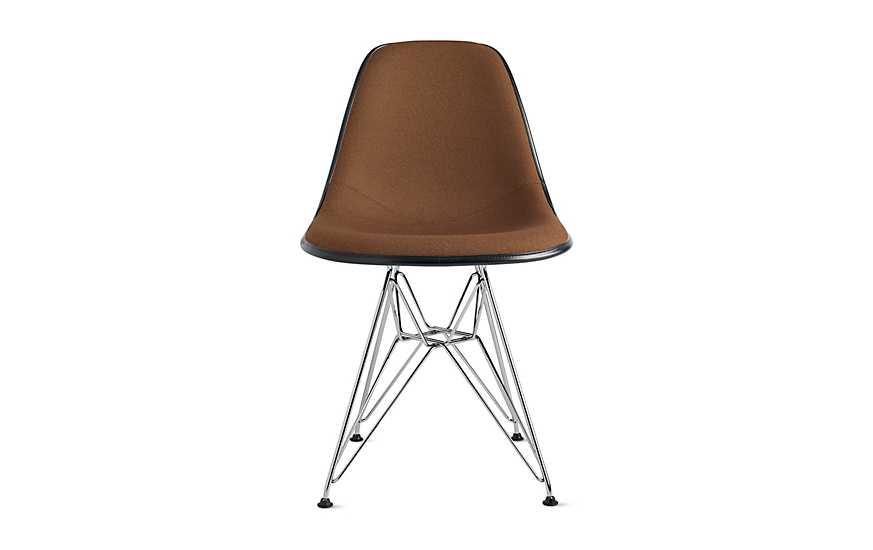 Eames® Upholstered Molded Fiberglass Wire Base Side Chair (DFSR)