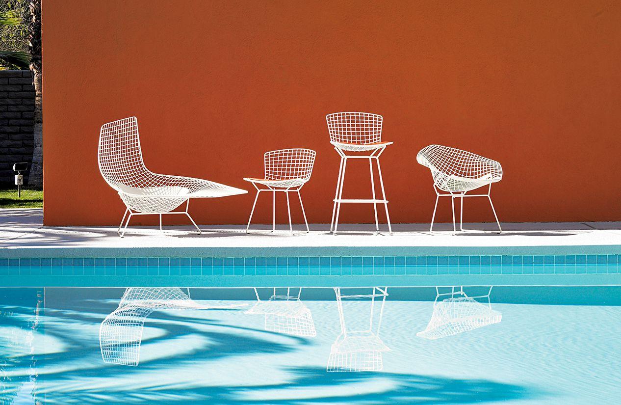 Bertoia lounge chair -  Bertoia Diamond Lounge Chair