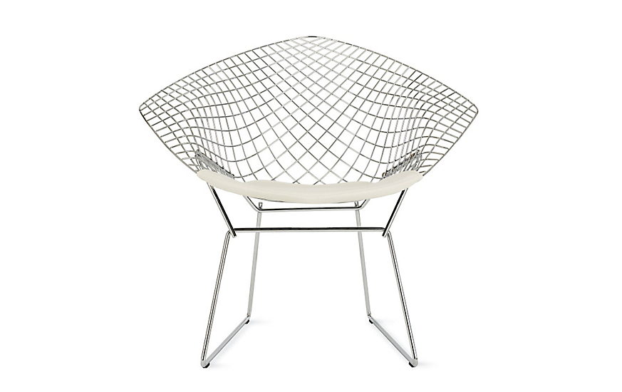 cushion or shop harry bertoia two canada seat unupholstered chair gr side with tone glides knoll