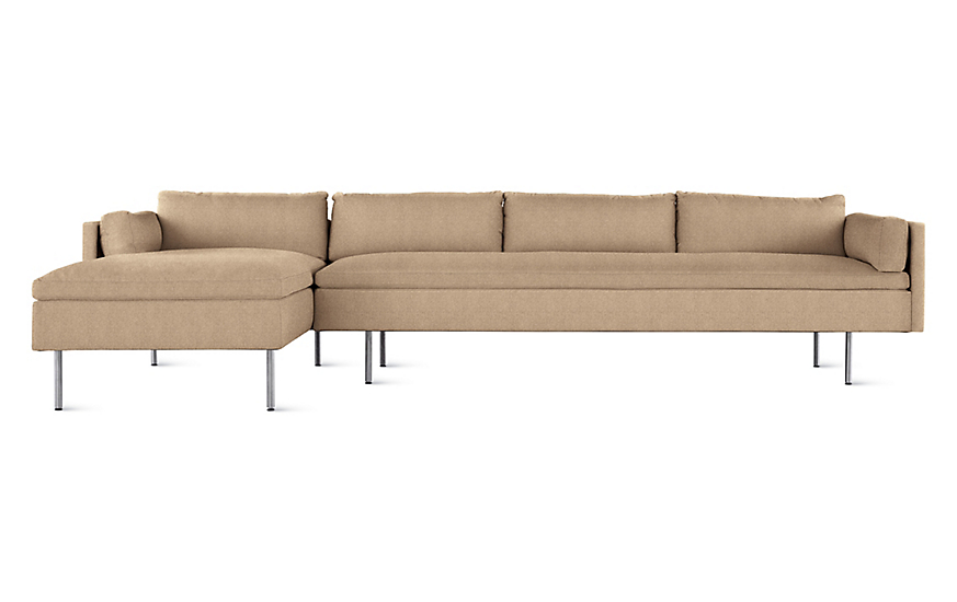 Bolster Sectional Chaise