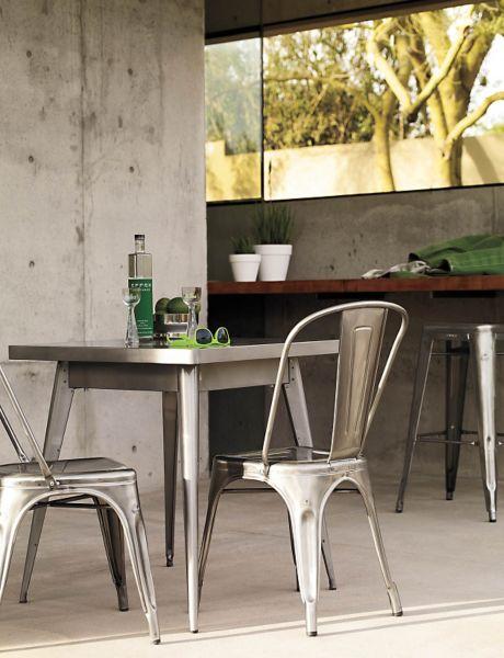 Merveilleux Tolix® Marais Two Seater Dining Table