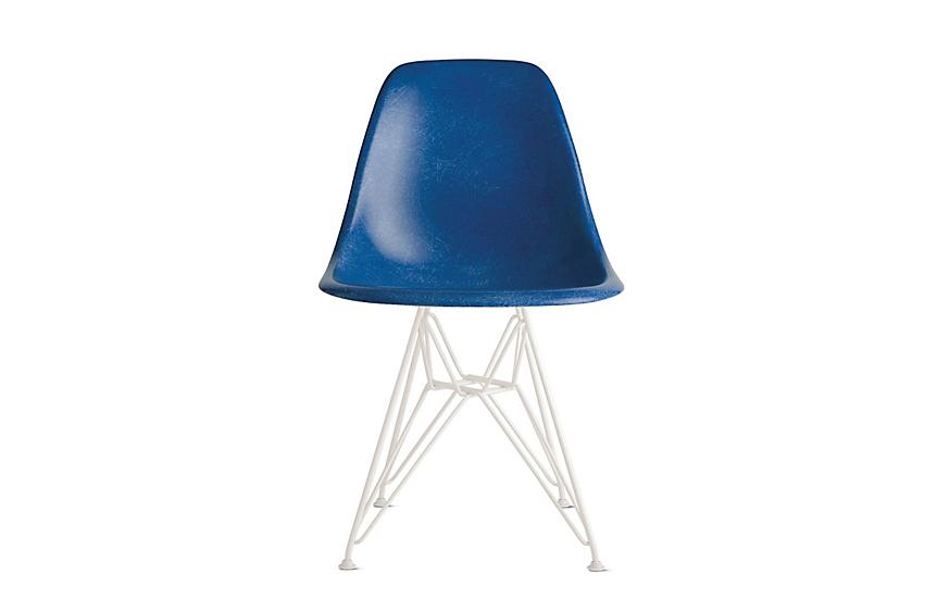 Eames® Molded Fiberglass Wire-Base Side Chair (DFSR)