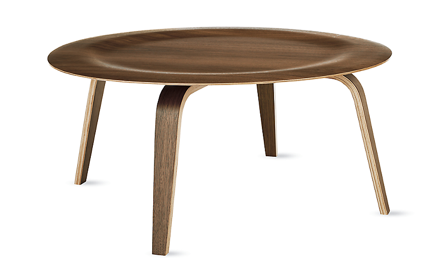 Eames Molded Plywood Coffee Table Wood Base  Herman Miller