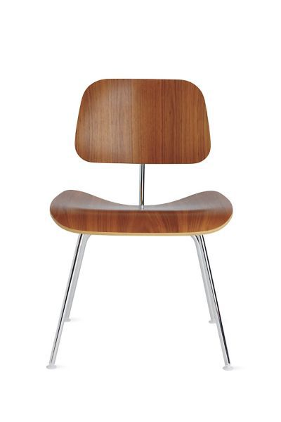 Eames Molded Plywood Dining Chair with Metal Base Herman Miller
