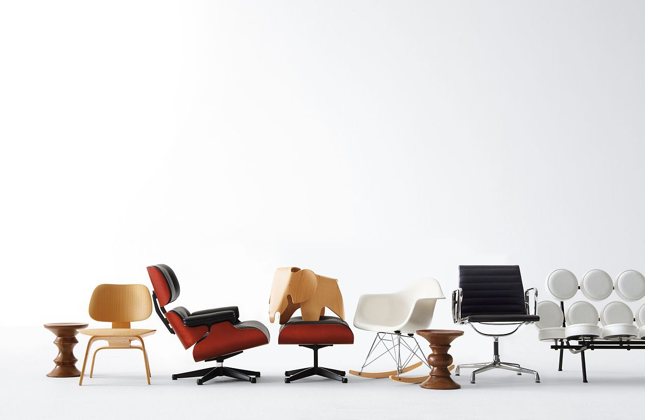 vitra miniatures collection eames® lounge and ottoman  dwr - vitra miniatures collection eames® lounge and ottoman