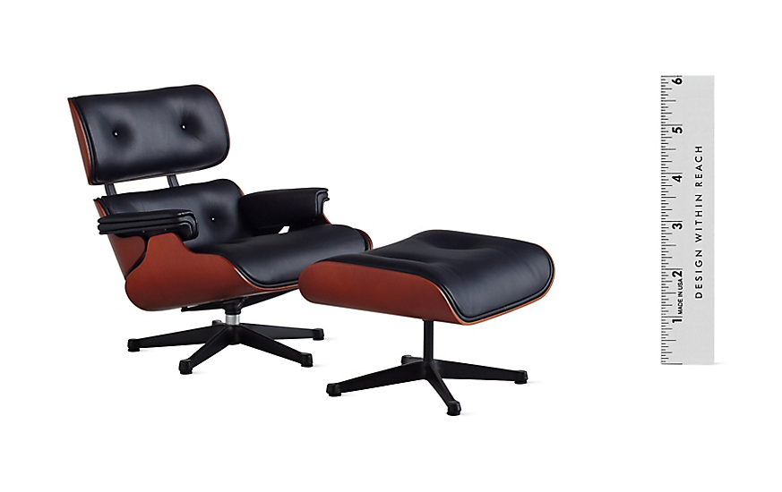 vitra miniatures collection eames lounge and ottoman design within reach. Black Bedroom Furniture Sets. Home Design Ideas
