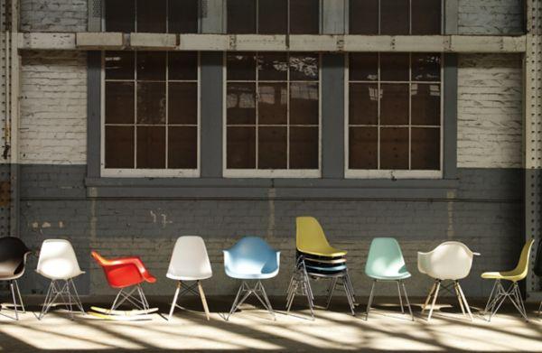 Eames® Molded Plastic 4 Leg Armchair (DAX)