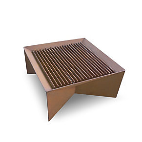 Plodes® Geometric Fire Pit Steel Grate Top