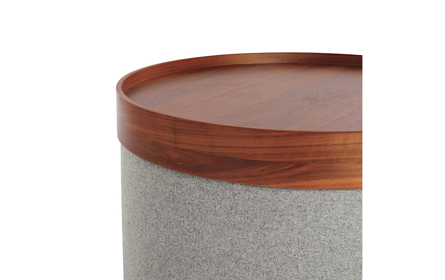 Drum Pouf Tray - Wide