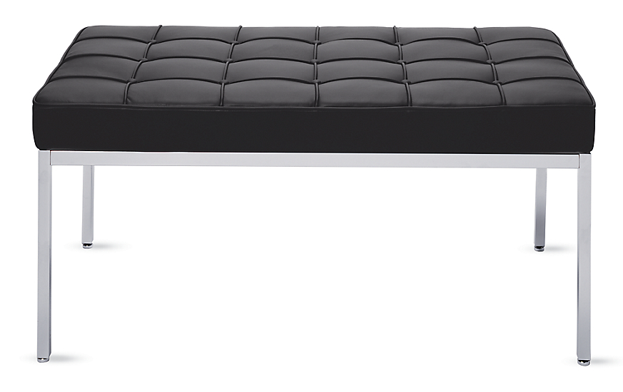 Florence Knoll Two-Seater Bench in Leather