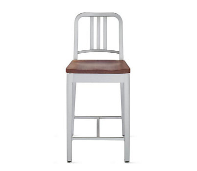 1006 Navy® Counter Stool with Wood Seat