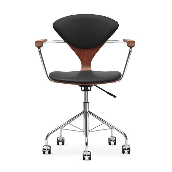 Cherner Task Chair with Upholstered Seat Pads Design Within Reach