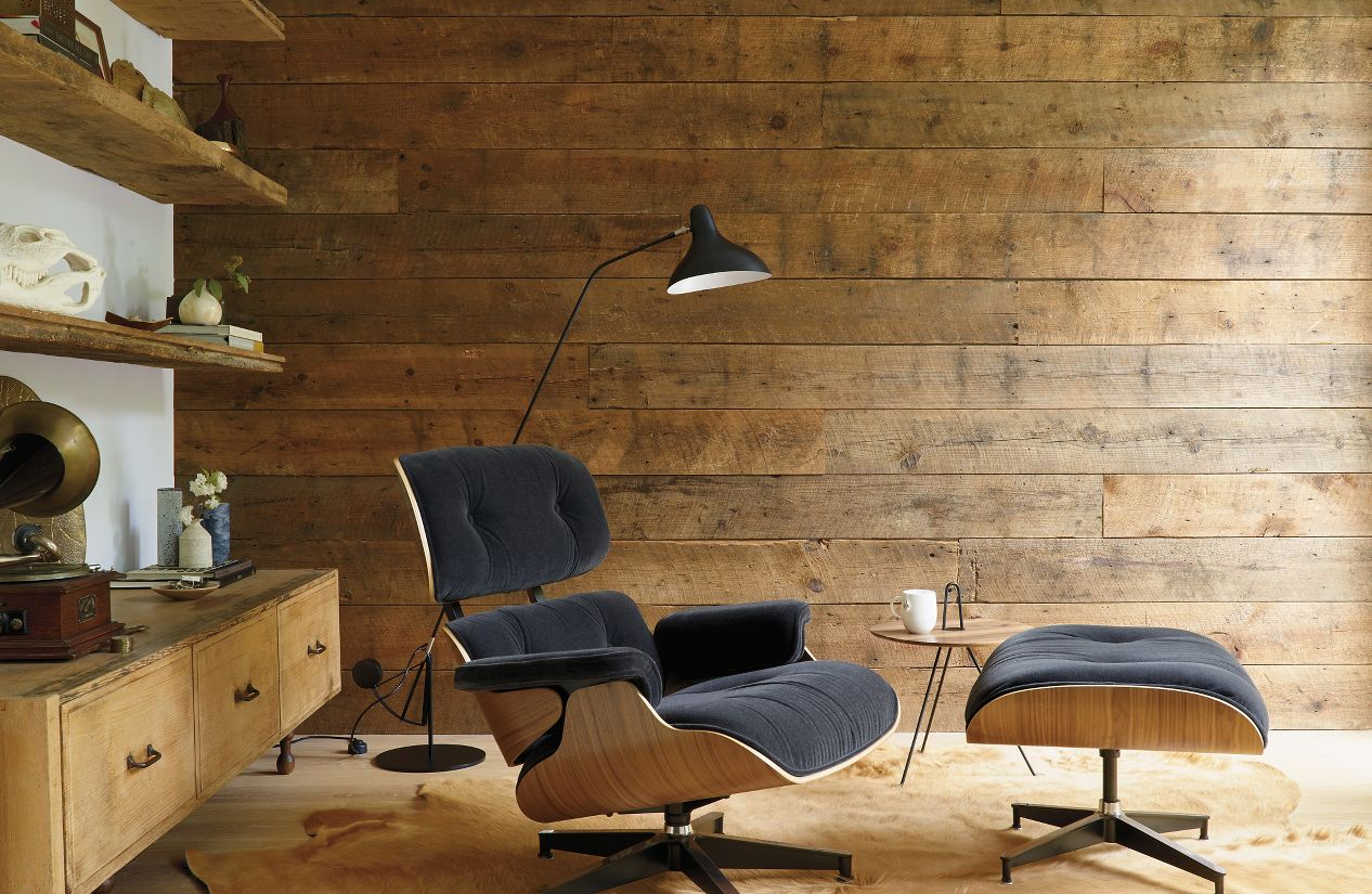Eames lounge chair in room -  Eames Lounge Chair And Ottoman