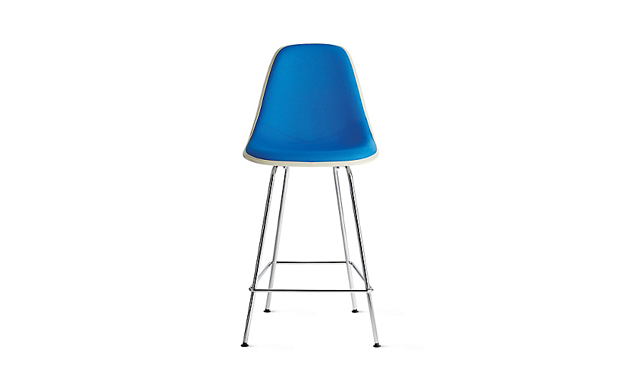 Eames® Upholstered Molded Fiberglass Counter Stool, DFHCX