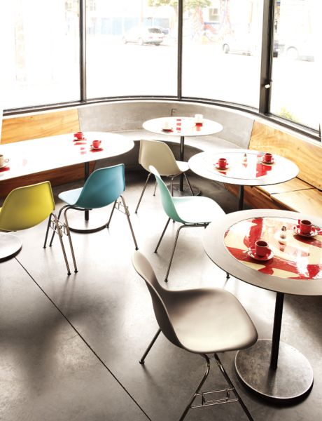 Eames Molded Plastic Side Chair Stacking Base Herman Miller