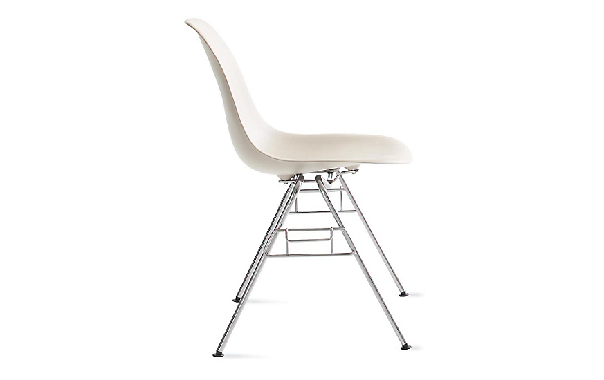 Eames Molded Plastic Stacking Side Chair DSS Design