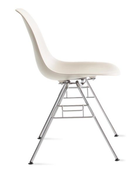 Eames Molded Plastic Wire Base Side Chair DSR Design Within Reach