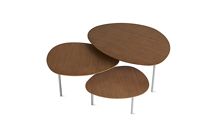 Eclipse Nesting Tables Set of 3  sc 1 st  Design Within Reach : set of 3 tables - pezcame.com