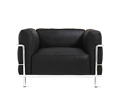 LC3 Grand Modele Armchair With Down Cushions