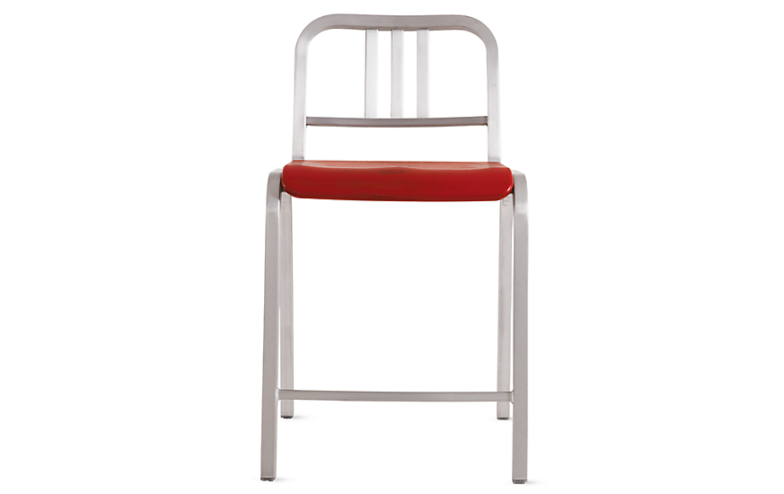Nine-0 Stacking Counter Stool - 3 Bar Back