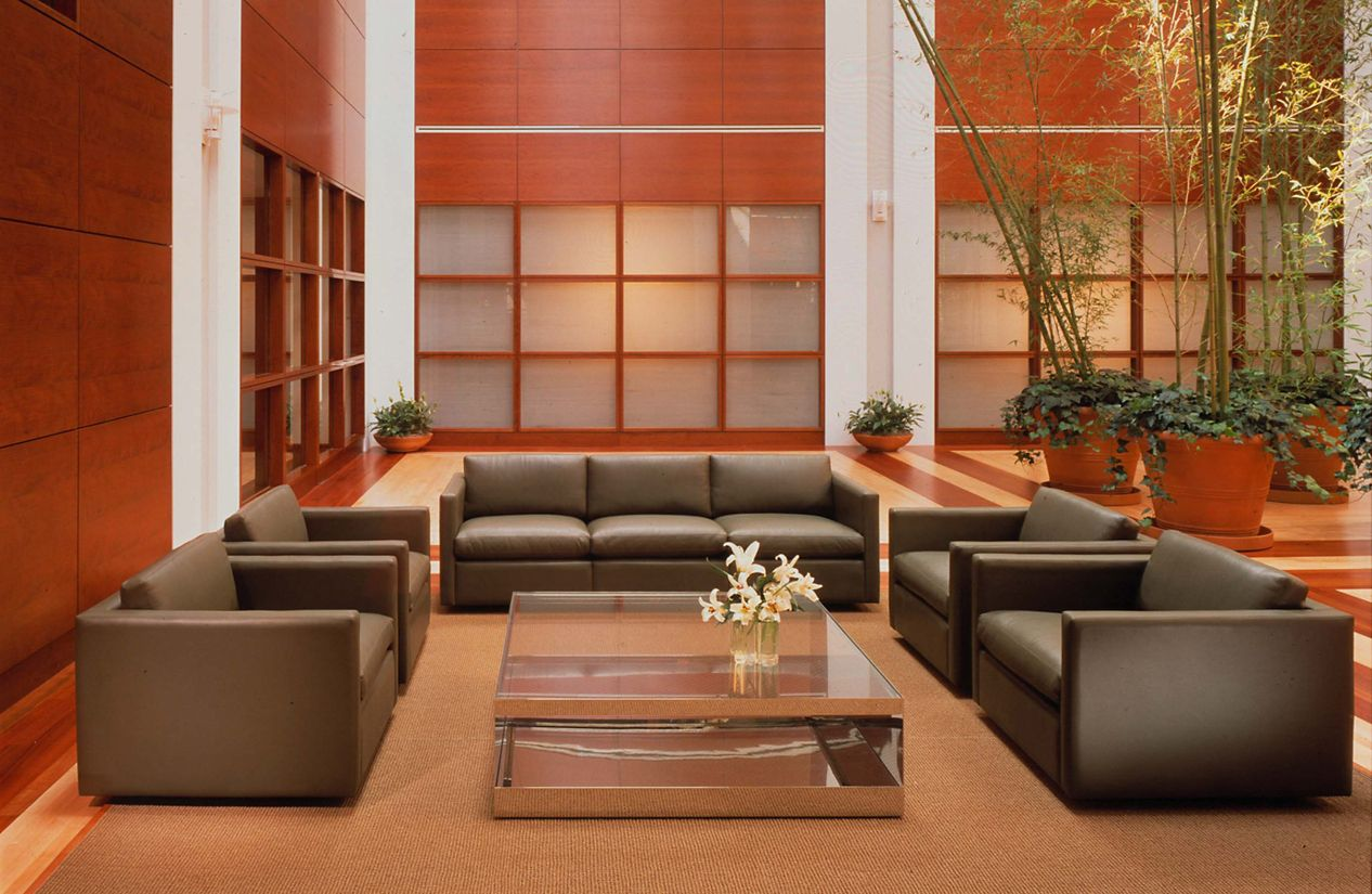 Two Seater Sofa Living Room Pfister Two Seater Sofa Design Within Reach