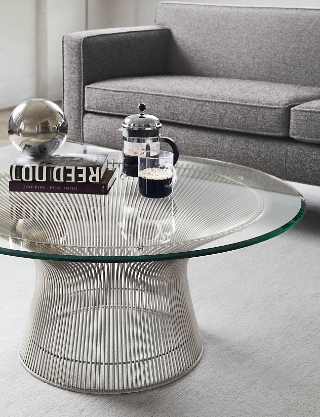 Platner coffee table design within reach for Warren platner coffee table