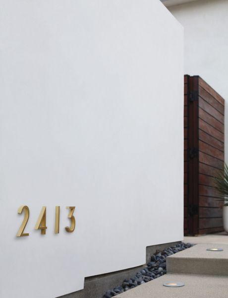 Neutra Modern House Numbers; Neutra Modern House Numbers