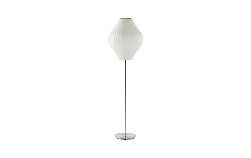 Nelson pear lotus floor lamp herman miller nelson pear floor lamp brushed base aloadofball Image collections