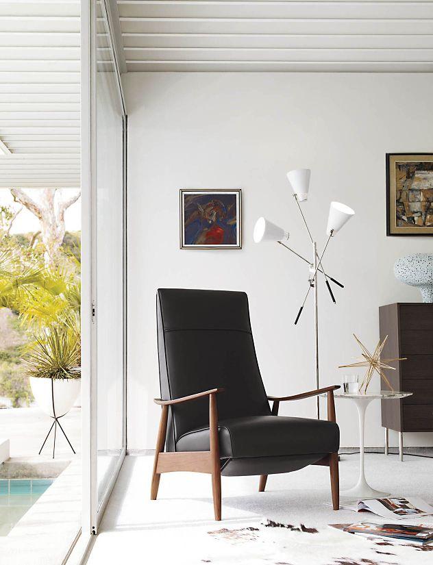 milo baughman recliner 74 design within reach