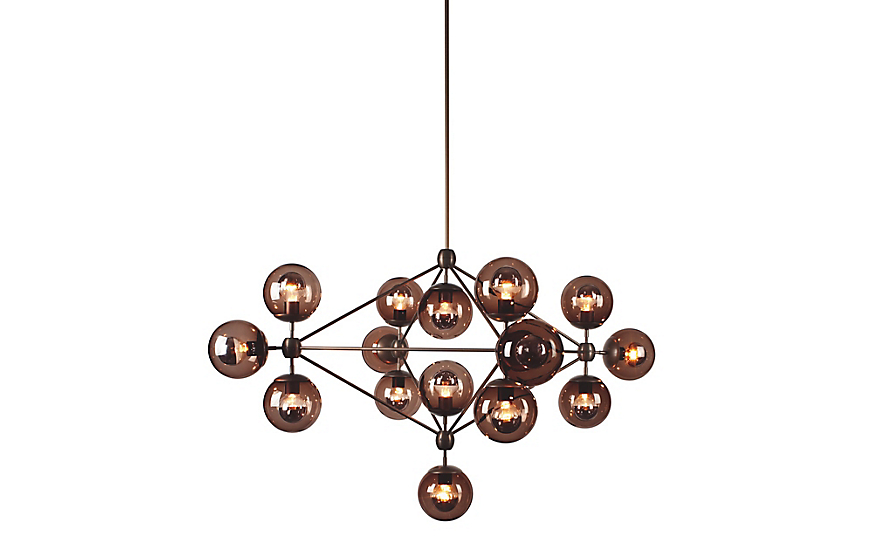 Modo Chandelier 4 Sided 15 Globes